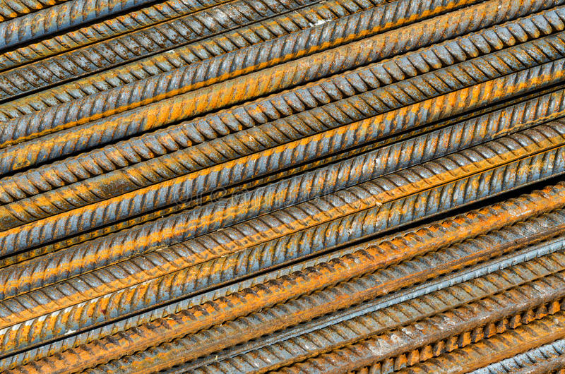 Rusty steel rods royalty free stock image
