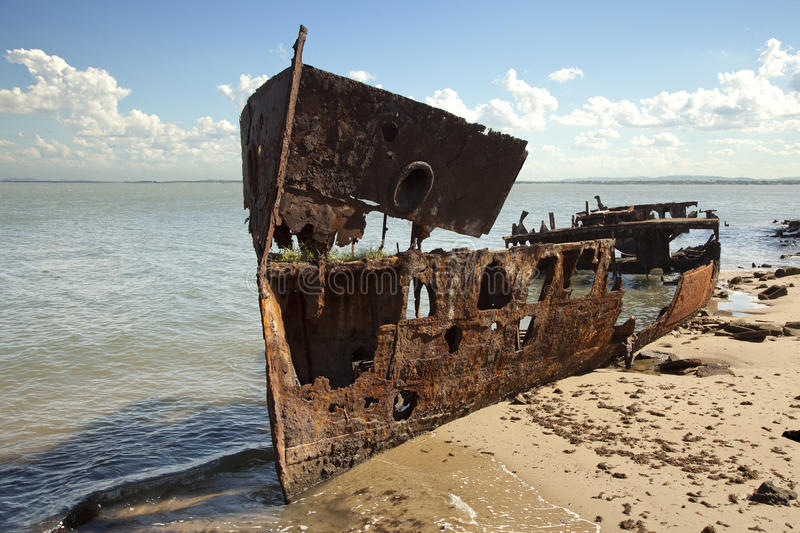 Rusty Steel Shipwreck Textured Surface images libres de droits