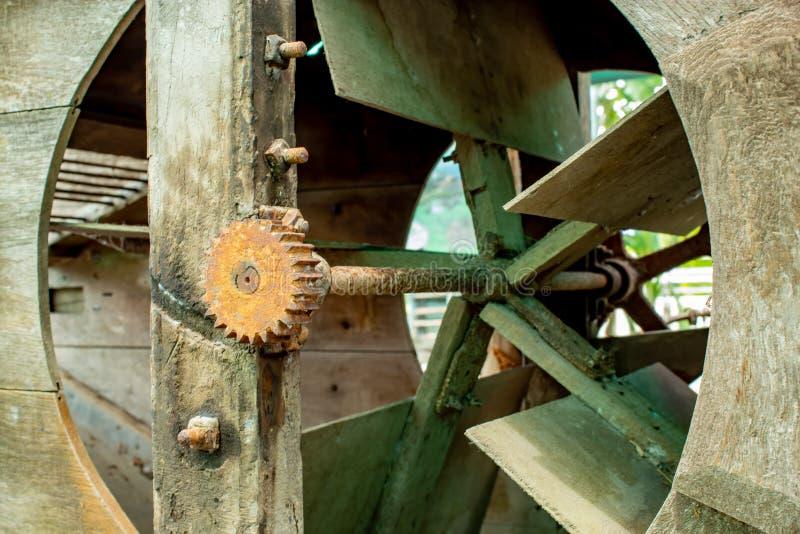 Rusty steel sprocket of the turbine. stock photography