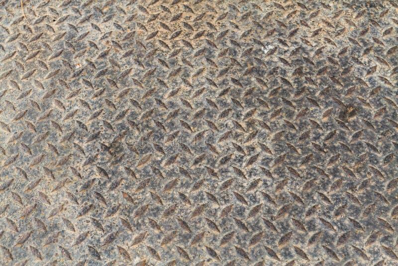 Rusty Surface van oldCheckered Plaat royalty-vrije stock foto