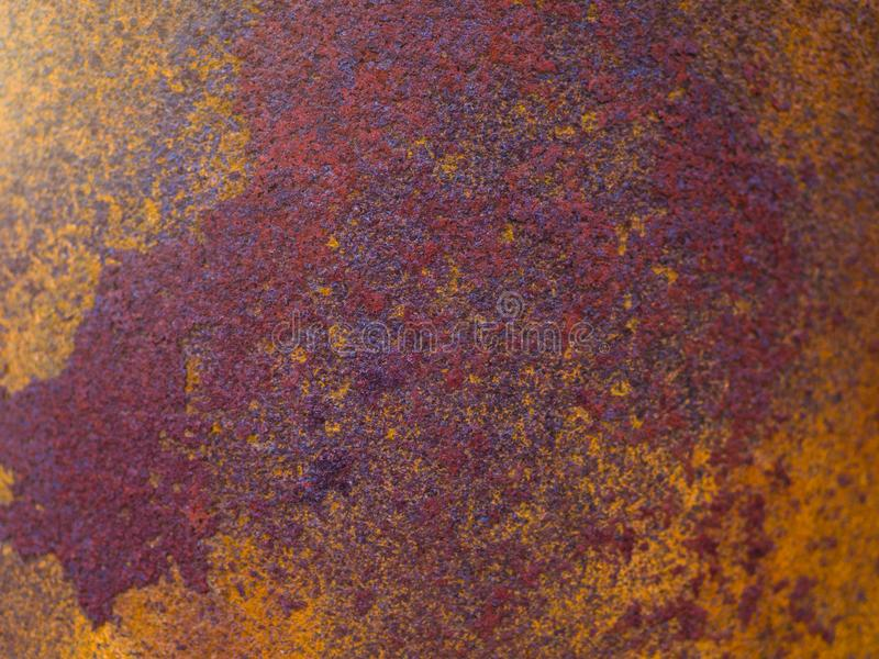 Rusty Texture of a Metal Spatula royalty free stock photo