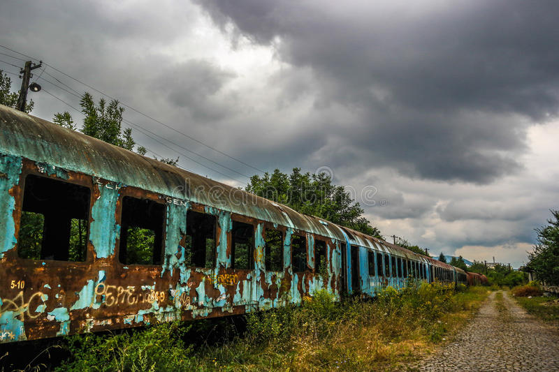 Rusty train no2 stock images