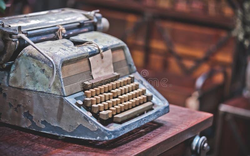 Rusty Typewriter On Desk antique image stock