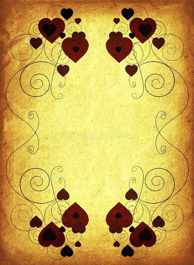 Rusty valentine frame royalty free illustration