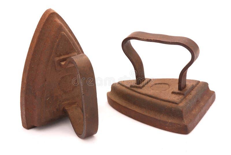 Rusty vintage irons stock photos