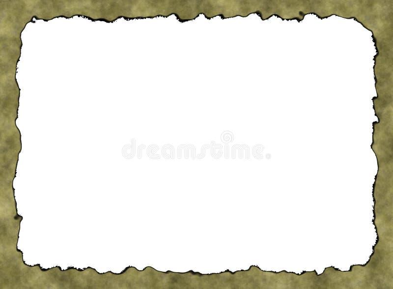 Rusty Vintage Paper Frame Texture vazio com trajeto de grampeamento ilustração do vetor
