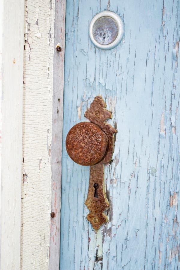 Rusty Vintage Round Door Knob idoso fotografia de stock royalty free