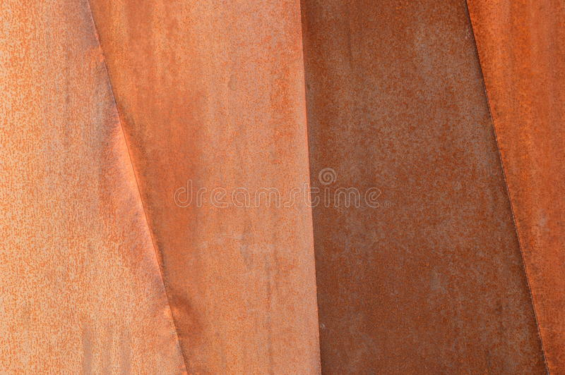 Rusty wall in Quebec, Canada. Red rusty metal wall in nature, Canada stock photography