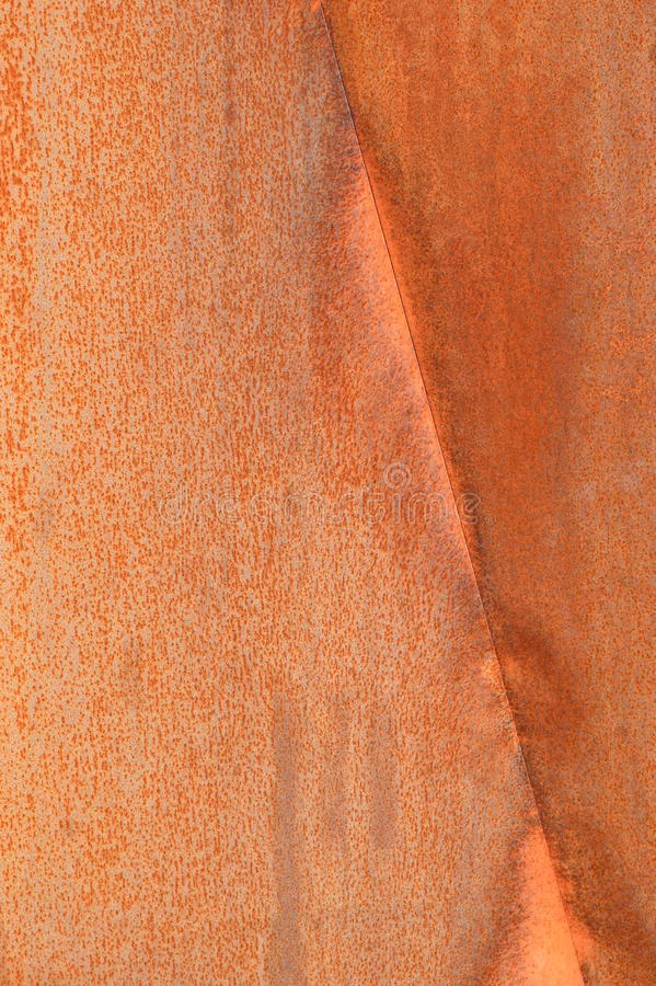 Rusty wall in Quebec, Canada. Red rusty metal wall in nature, Canada royalty free stock photos