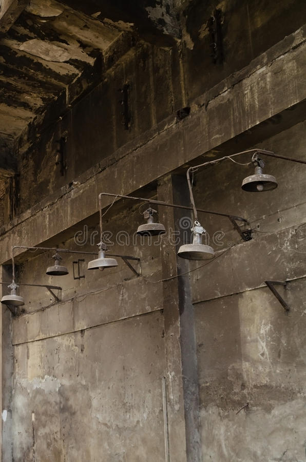 Download Rusty warehouse lamps stock photo. Image of grundge, warehouse - 22995902