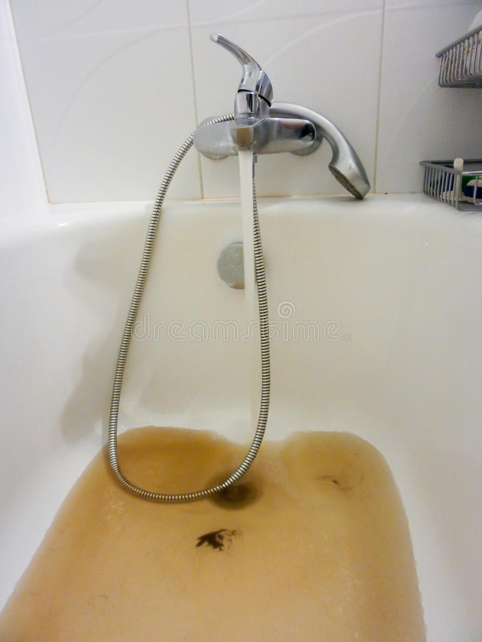 Rusty Water Running From A Faucet Stock Image - Image of sink ...
