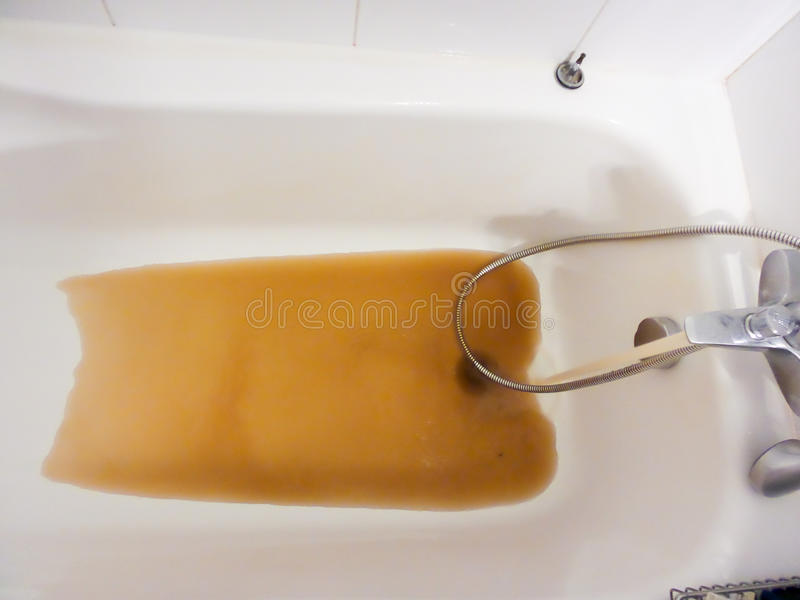 Rusty Water Running From A Faucet Stock Photo - Image of metal, sink ...