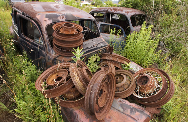Download Rusty Wheels stock photo. Image of abandoned, autos, vintage - 473464