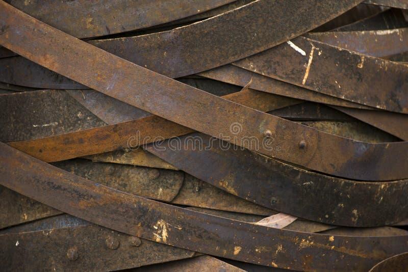 Rusty Wine Barrel Rings stock photo