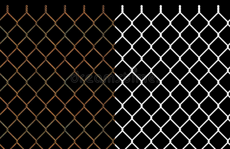 Download Rusty Wire Chain Link Fence Stock Illustration - Image: 13010724