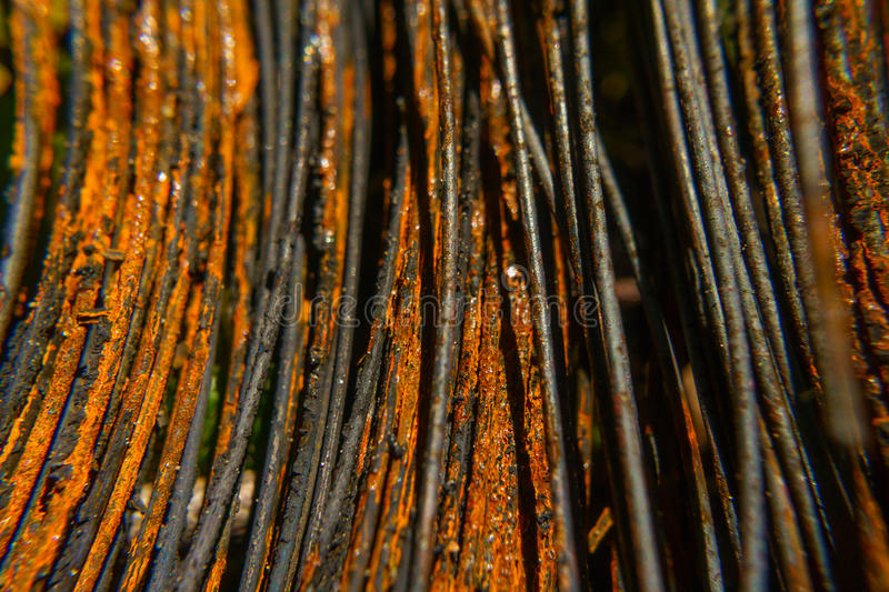 Rusty wire close-up macro texture royalty free stock image