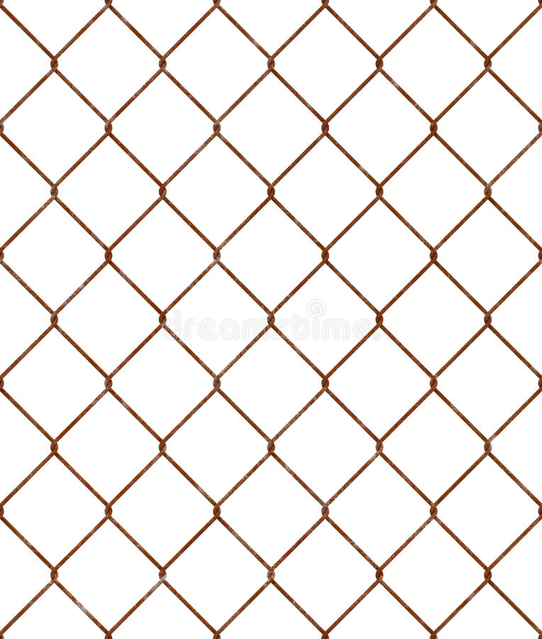 Rusty wire mesh seamless pattern. Repeatable rusted woven wire mesh tile. Endless twisted wire pattern. PNG with transparent background stock images
