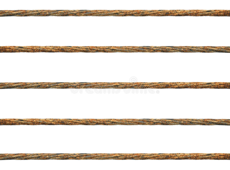 Rusty wire rope stock photo. Image of dirty, wire, link - 31073308