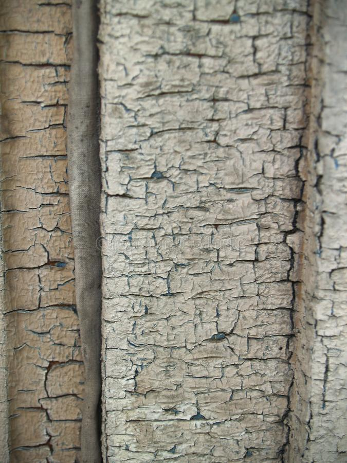 Rusty wooden plank and old paint royalty free stock photography