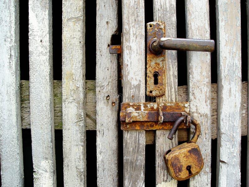 rusty zamka fotografia stock