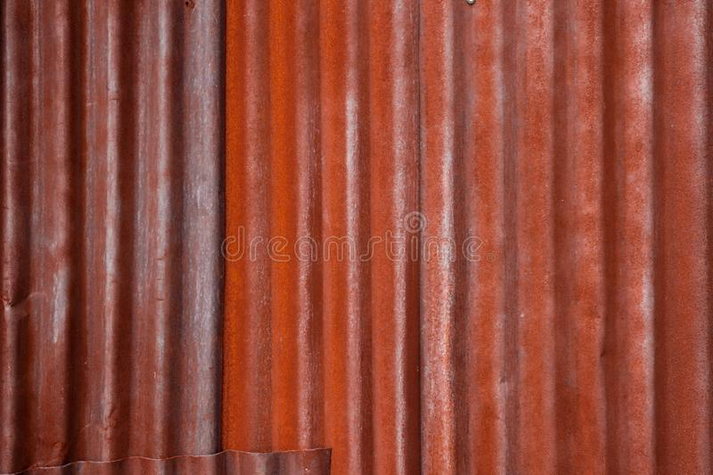 Rusty zinc background texture with reddish brown stock images