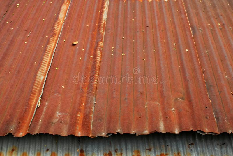 Rusty zinc roof royalty free stock photo