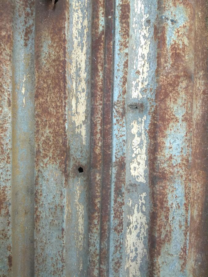 Rusty Zinc Surface With Blue and Brown Colour royalty free stock images