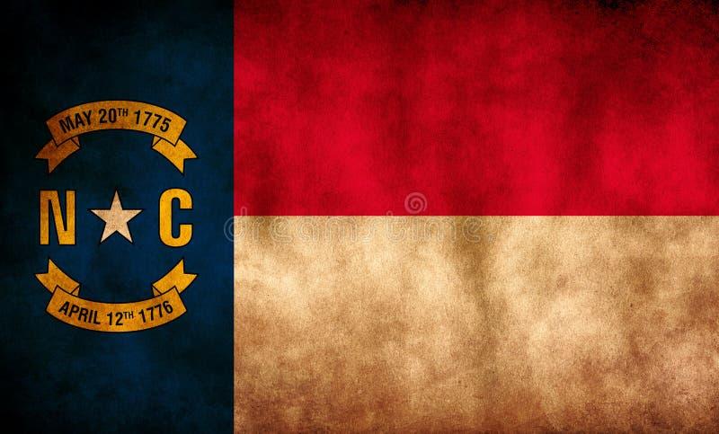 Rustyk, Grunge Północna Karolina Flaga stanowa obraz stock