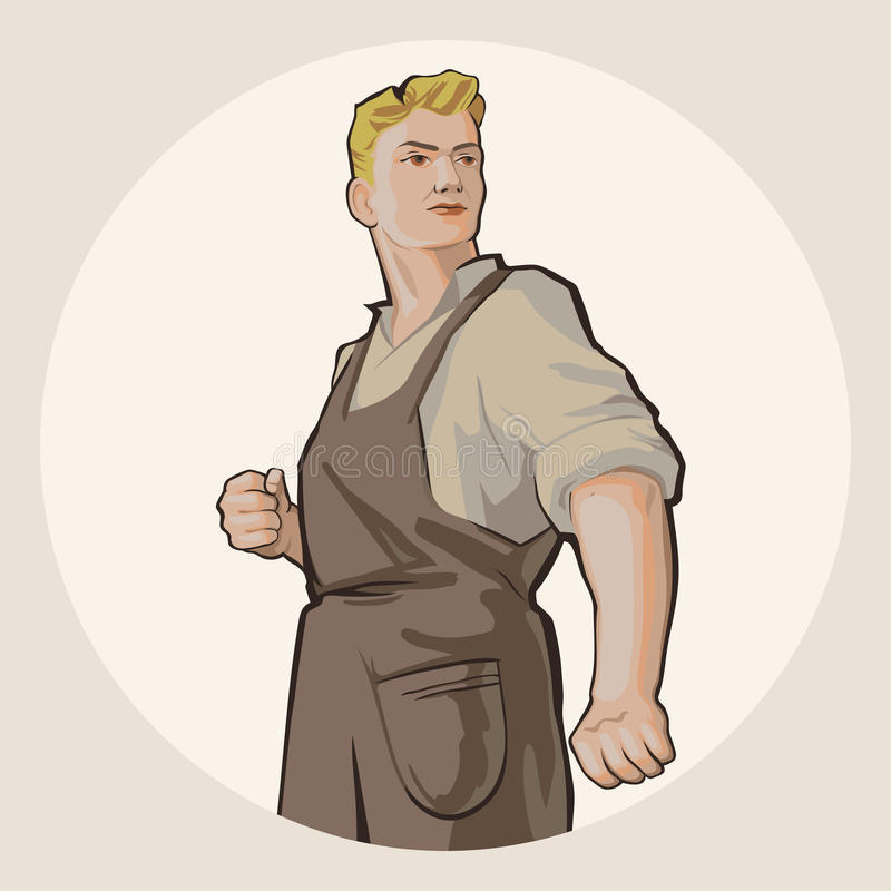 Rusworker1 royalty free illustration