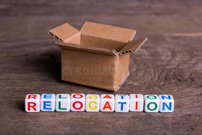 Ruszać się inny dom lub biuro Słowa przeniesienie zdjęcie stock