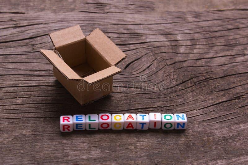 Ruszać się inny dom lub biuro Słowa przeniesienie obrazy royalty free