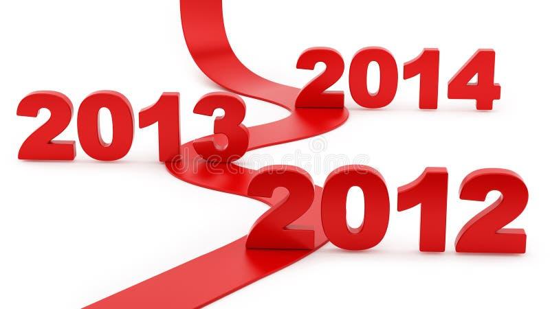 Ruszać się w kierunku 2014 ilustracji