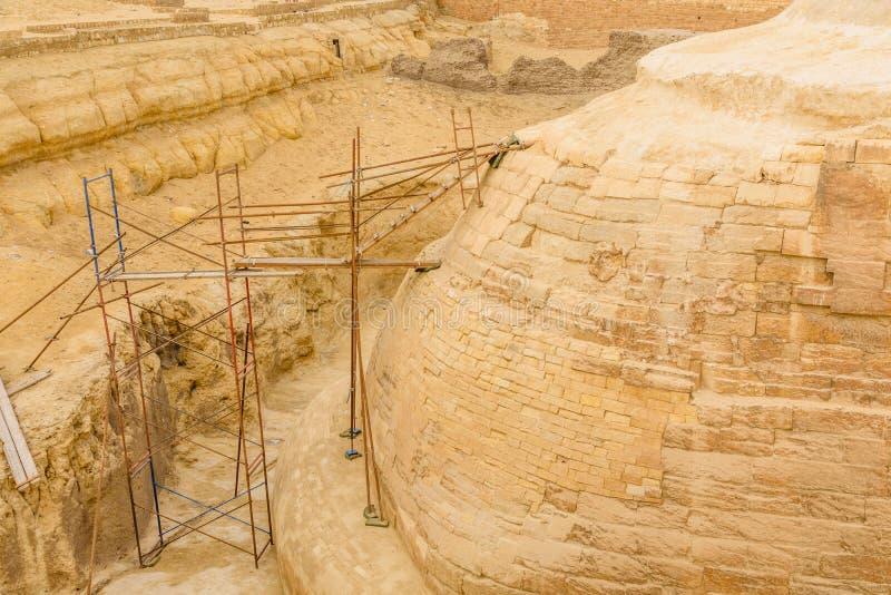Rusztować za wielkim sfinksem w Giza plateau cairo Egypt obrazy royalty free