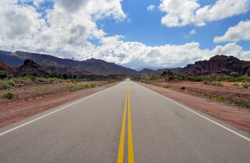 Ruta 40 дороги в Cuesta de Miranda ареальных стоковые фотографии rf