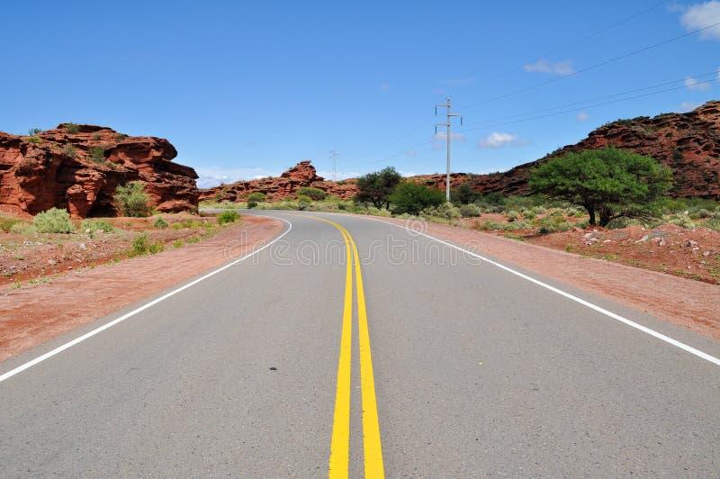 Ruta 40 дороги в Cuesta de Miranda ареальных стоковая фотография
