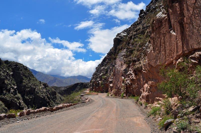 Ruta 40 дороги в Cuesta de Miranda ареальных стоковое фото