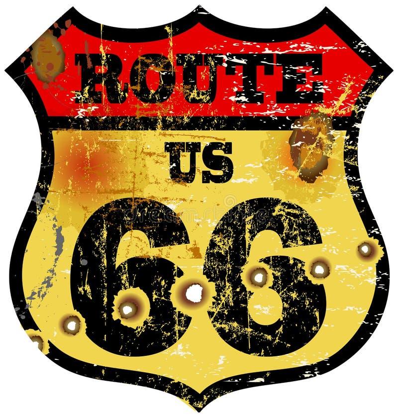 ruta 66 stock de ilustración