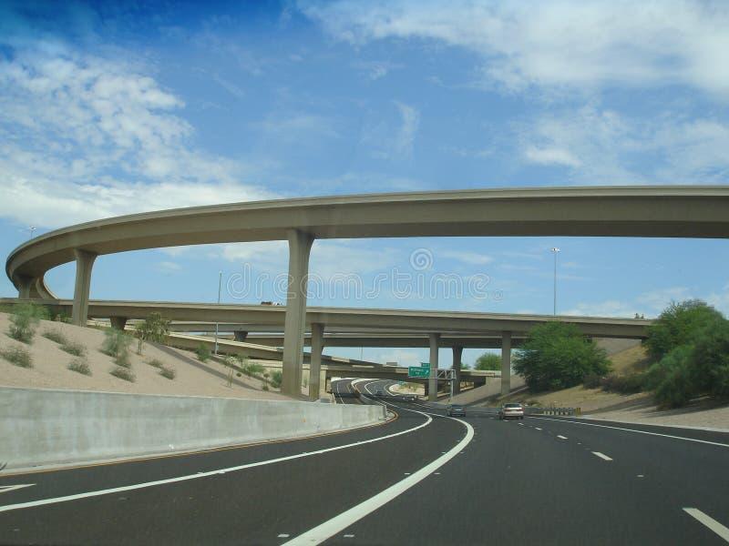 Ruta 51 del estado de Arizona de la autopista sin peaje foto de archivo libre de regalías