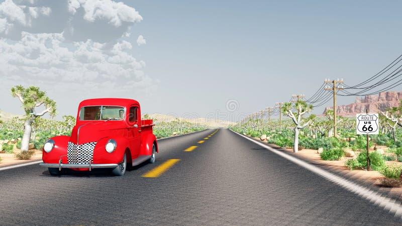 Ruta 66 ilustración del vector