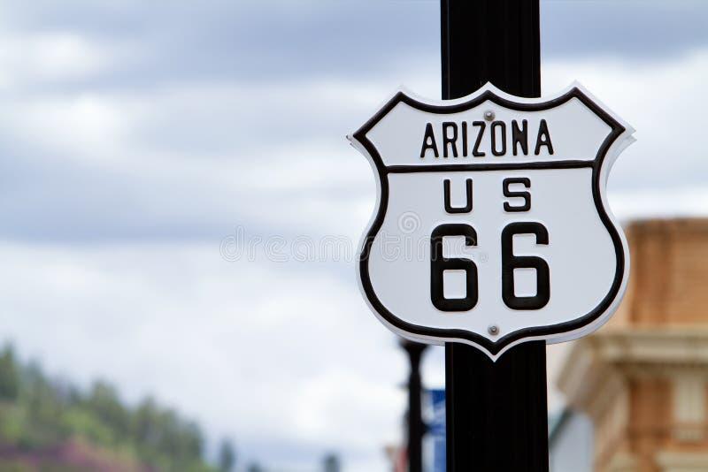 Ruta 66 de Arizona imagen de archivo