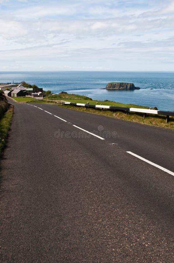 Ruta costera del terraplén imagen de archivo