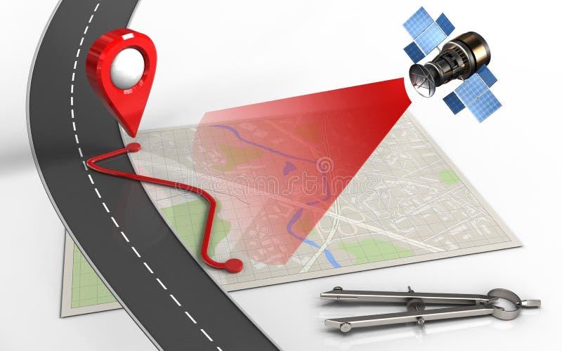 ruta 3d stock de ilustración