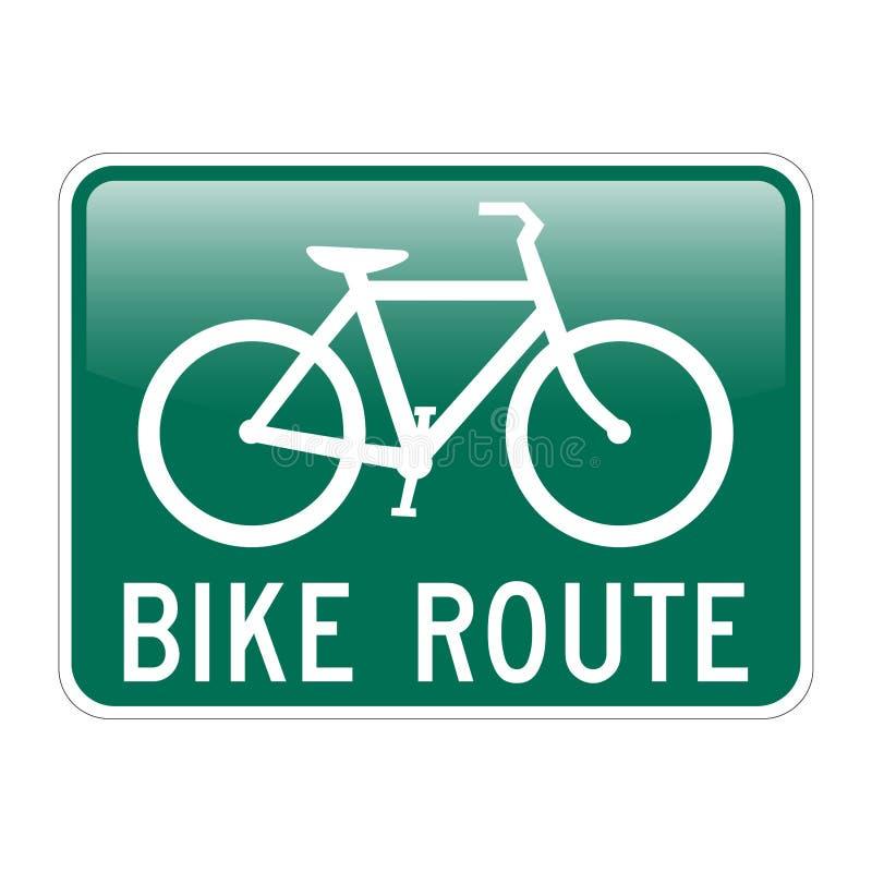 Ruta de la bici ilustración del vector