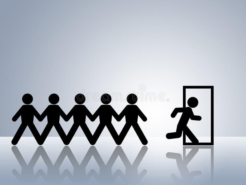 Ruta de la evacuación de la emergencia de la puerta de salida de la ruta de escape libre illustration