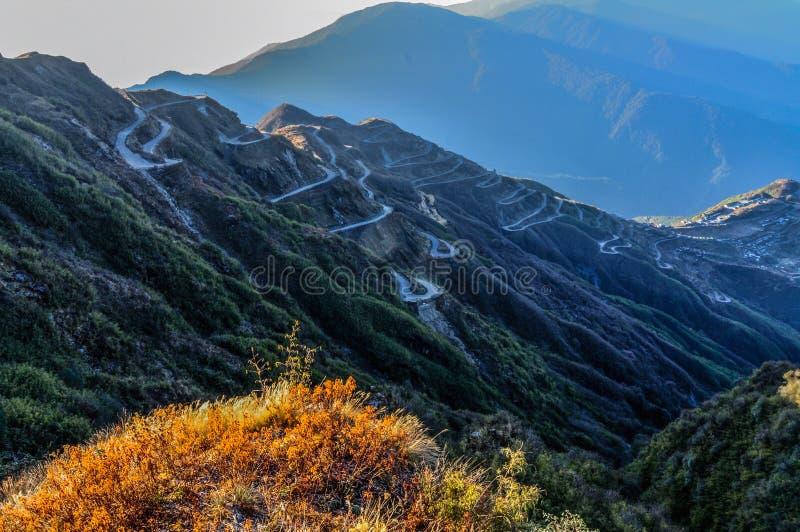 Ruta de seda vieja, entre China y la India, Sikkim fotografía de archivo libre de regalías