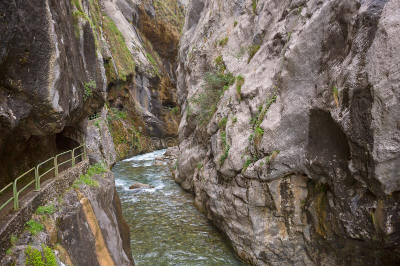Ruta del Cares royalty free stock images