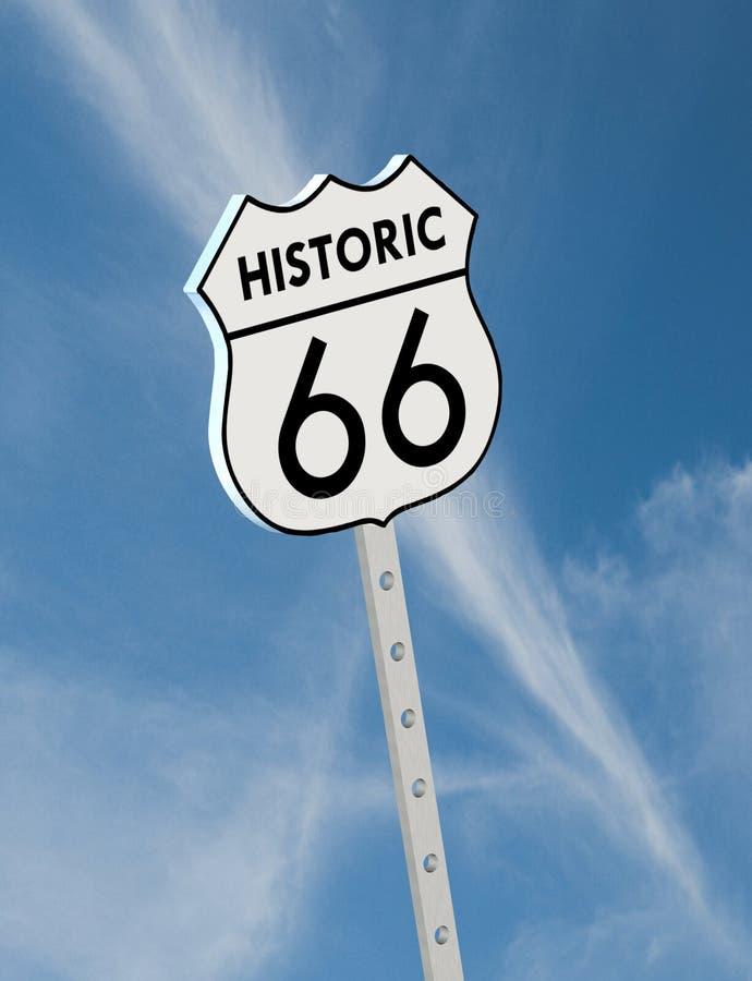 Ruta histórica 66 ilustración del vector