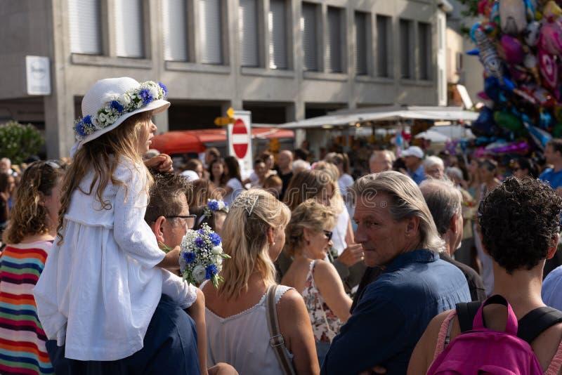 Rutenzug游行在Jugendfest布鲁格- Impressionen的 免版税库存照片
