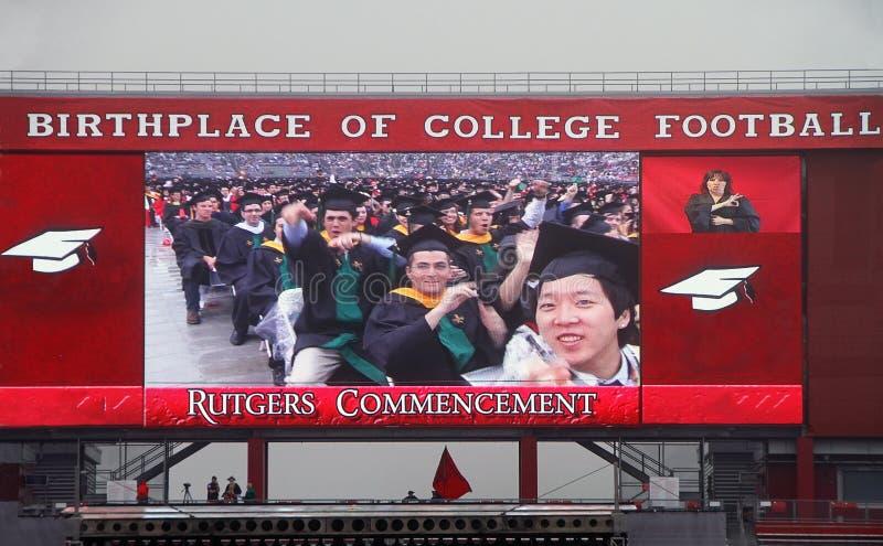 Rutgers uniwersyteta początek zdjęcie royalty free
