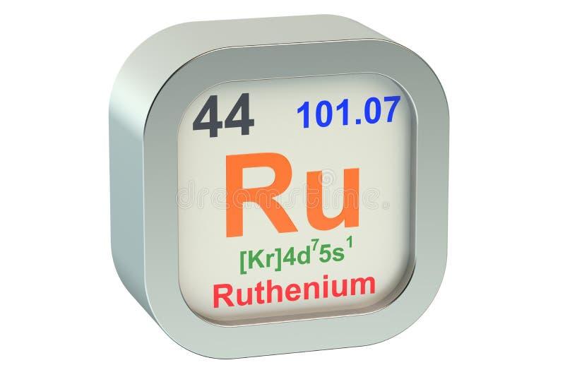 Ruthenium vector illustration